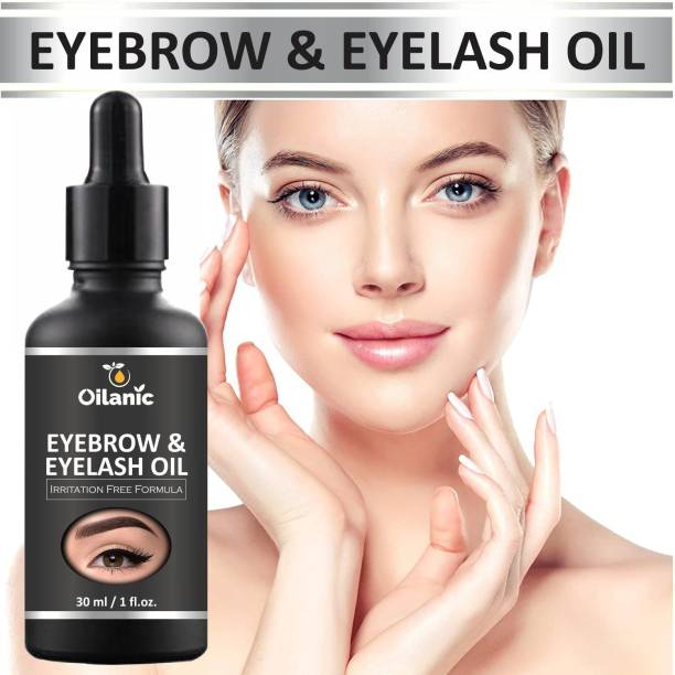 Oilanic Eyebrow & Eyelash oil For Women Strength with Pure Natural Ingredient( 30 ml) Hair Oil