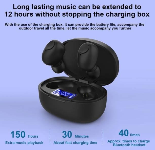 RGMS Premium TWST12 LED Display Bluetooth Headset With Power bank Bluetooth Headset
