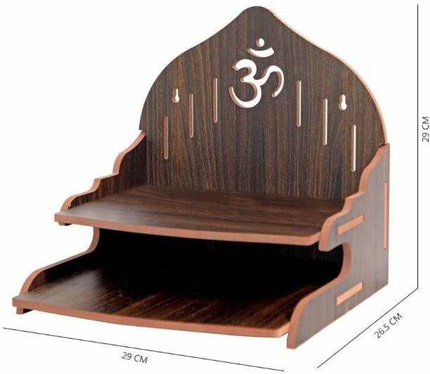 STASTORE Wooden Singhasan Temple for God, Laddu Gopal Sinhasan for Pooja Mandir, Singhasan for Diwali, Durga Pooja, Navratri, Ganesh Chaturthi - Multicolor (Red) Engineered Wood Home Temple Engineered Wood Home Temple