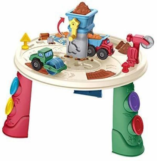 Smartcraft Engineering Play Dough Toy, Engineering Theme Play Dough Toy Table Play Clay Set, Kids Play Dough Table- Multicolor