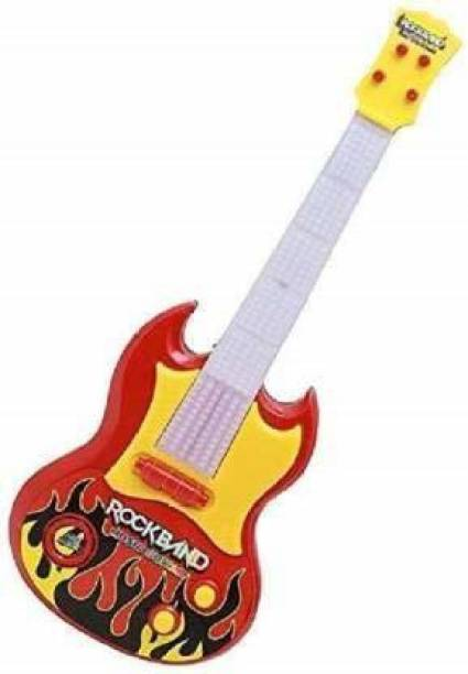 RISING BABY battery operated rock band musical instrument guitar toy with light and music for kids
