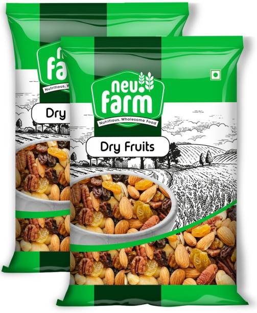 Neu.Farm Premium Dry Fruits - Mix Dry Fruits - Pack of 2 - Trail Mix (Almonds, Cashews, Pista, Raisins, Walnut)