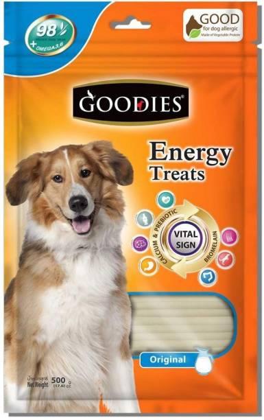 PET LIKES Goodies Energy Treats Calcium, 500g (Pack of 2) Vegetable 0.5 kg (2x0.25 kg) Dry Adult Dog Food