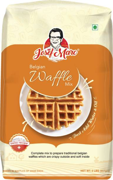 Josef Marc Authentic Belgian Waffle Mix, 2 LBS - Belgian Waffle Vanilla Mix Easy to Use Just Add Water, Formulated in Switzerland 907 g