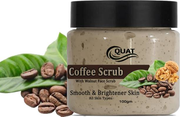 QUAT 100% Natural Coffee With Walnut Scrub For Smooth And Brighter Skin Scrub for men and women Scrub