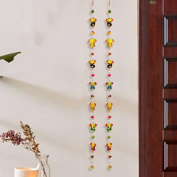 DreamKraft Decorative Ganesh Door Hangings ( Multicolor) Set of 2 Toran