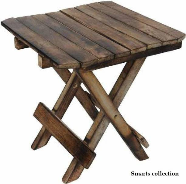 Smarts collection Wooden side table ,side Stool for home decor (Brown) Solid Wood Side Table