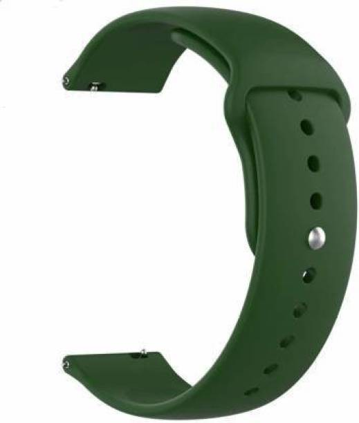 gettechgo Soft Liquid Silicone 20 mm Band Strap Compatible with Samsung Galaxy Watch 3 41mm, Galaxy 42mm, Galaxy Active 40mm, Active 2 (40-44mm) / AmazeFit BIP/BIP Lite/AmazeFit GTS, Amazefit GTR (42mm) / VivoActive 3 / RealMe Classic, Fashion & Smartwatches with 20mm Lugs (Olive Green) Smart Watch Strap