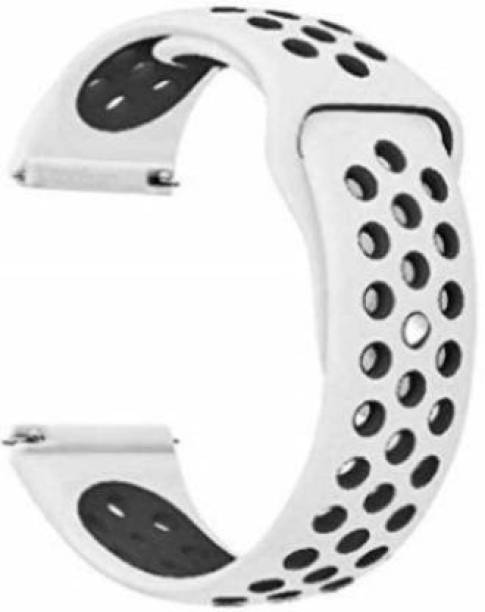 gettechgo Soft Silicone Sport Band Compatible with Samsung Galaxy Watch 3 41mm, Galaxy 42mm, Galaxy Active 40mm, Active 2 (40-44mm) / AmazeFit BIP/BIP Lite/AmazeFit GTS, Amazefit GTR (42mm) / VivoActive 3 / RealMe Classic, Fashion & Smartwatches with 20mm Lugs Smart Watch Strap