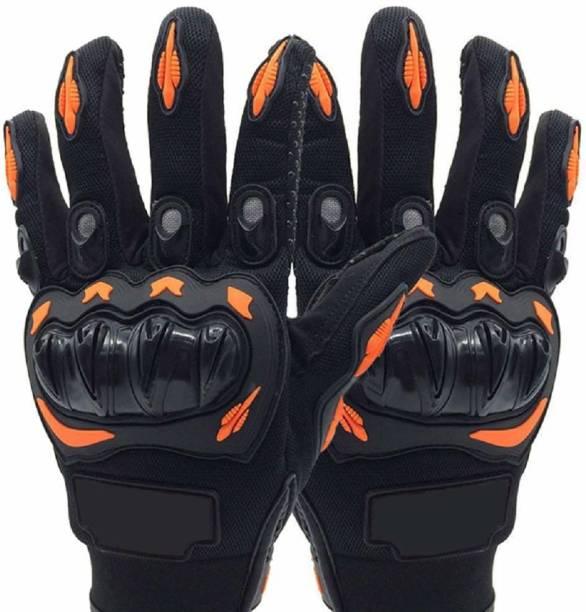 bestonova .Sports Riding Gloves Riding Gloves (Black & Orange) Riding Gloves