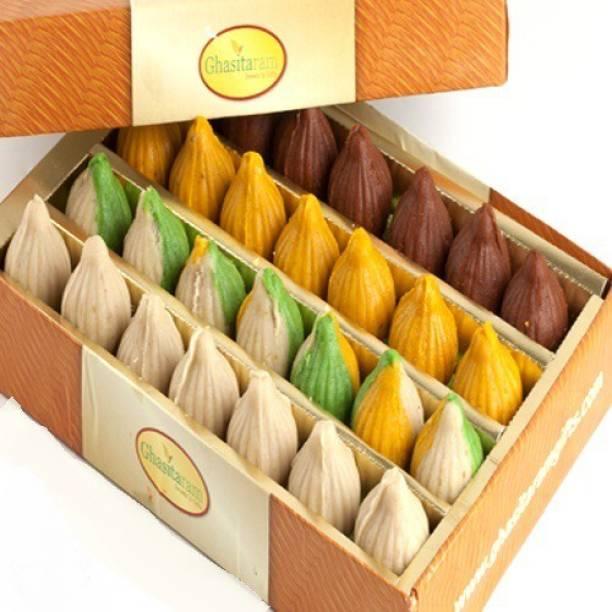 Ghasitaram Gifts Pure Kaju Assorted Modaks Box