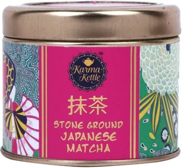 Karma Kettle Stone ground Japanese Matcha powder, 50 gm Unflavoured Matcha Tea Tin