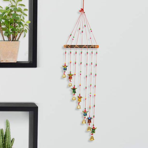 DreamKraft Handcrafted Kalash Design Wood Wind Chine Plastic, Wood Windchime