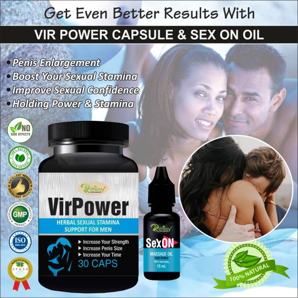 Riffway Vir Power Capsules And Sex On Oil Herbal Supplement 100% Ayurvedic