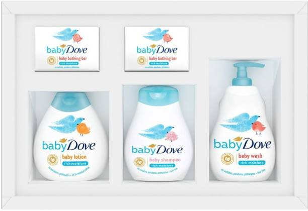 baby Dove Day 1 Essentials Gift Set of 200 ml Packs With Baby Soaps (Combo Pack)