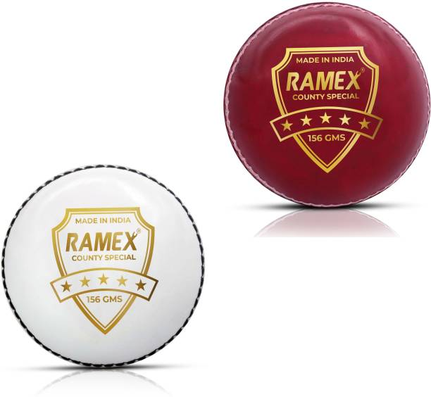 RAMEX Leather 2 Part Side Cricket Ball(PACK OF 2) Cricket Leather Ball
