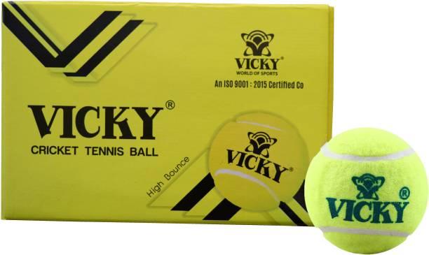 VICKY Light Cricket Tennis Ball (Pack of 6) Cricket Tennis Ball