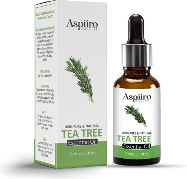Aspiiro Natural Tea Tree Essential Oil , 100% Pure & Natural , Undiluted, Natural Aromatherapy, Therapeutic Grade