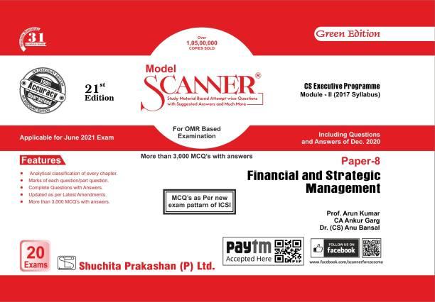 Model Scanner CS Executive Programme Module-II (2017 Syllabus) Paper-8 Financial and Strategic Management