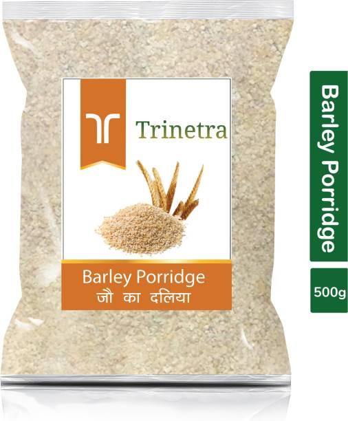 Trinetra Best Quality Jau Daliya (Barley Porridge)-500gm (Pack Of 1)