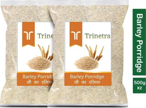 Trinetra Best Quality Jau Daliya (Barley Porridge)-500gm (Pack Of 2)