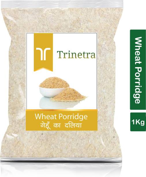 Trinetra Best Quality Gehun Daliya (Wheat Porridge)-1Kg (Pack Of 1)