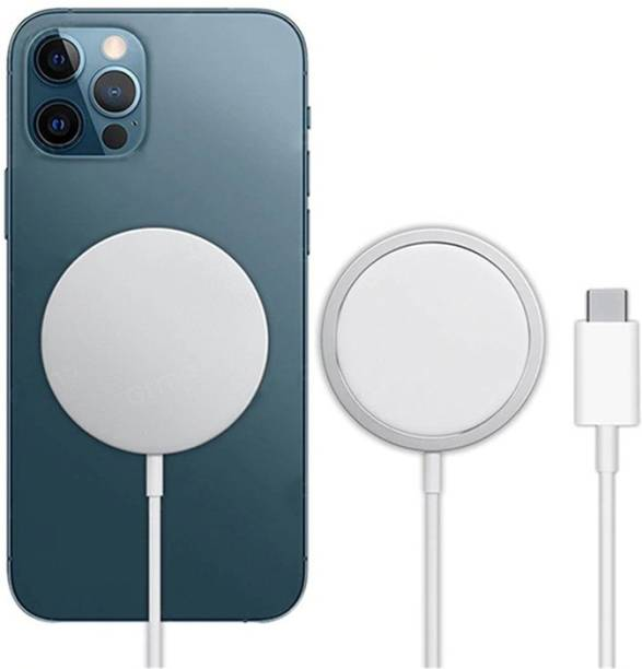 GiftMax Wireless Original Charger for iPhone, 15W Fast Charging Qi Magnetic Compatible with iPhone 12, 12 Mini, 12 Pro, 12 Pro Max (Magsafe USB C Port + Free Type C to USB A Connector) Charging Pad