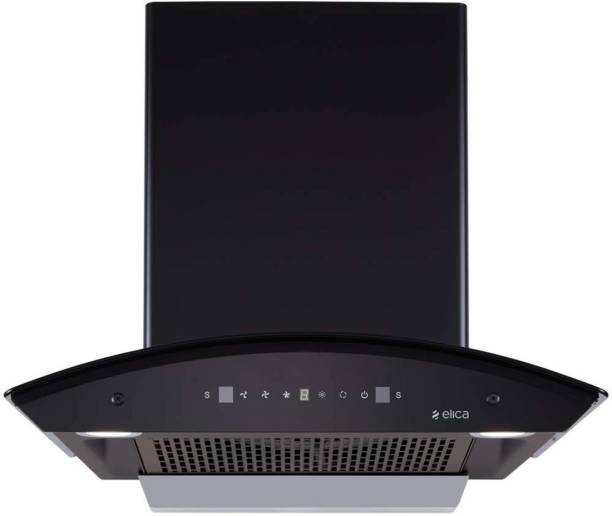 Elica WDFL 608 HAC MS NERO Auto Clean Wall Mounted Chimney