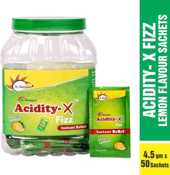 Dr. Morepen Acidity-X Fizz Fruit Salt, 50 Sachets Lemon Powder