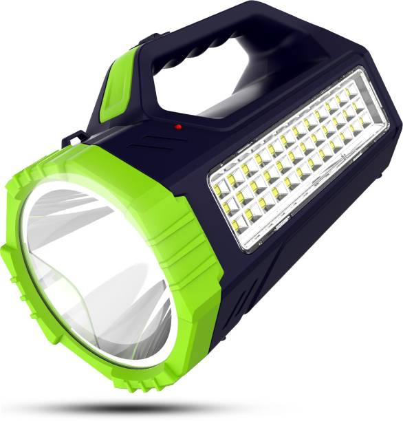 Make Ur Wish Rechargeable Bright Led Torch Light Laser Long Range High Power Search Light Kisan Rechargable with 36 Led Side Emergency Lights Torch Emergency Light
