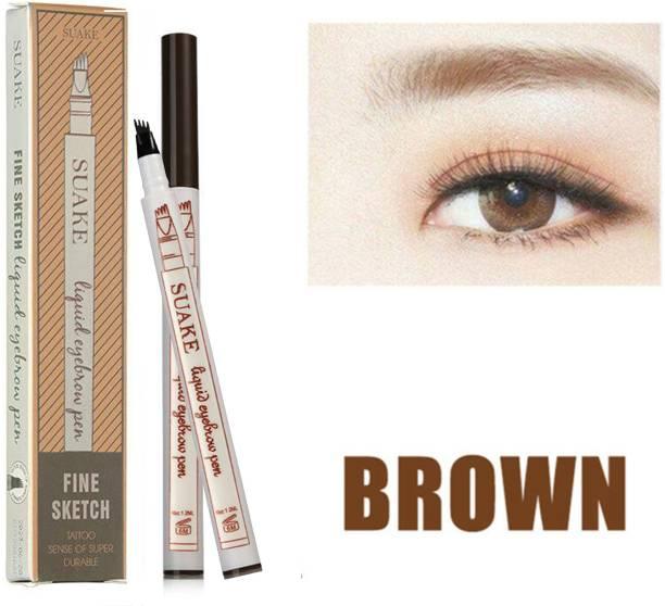 SUAKE 4 Head Fine Sketch Fork Tip Tattoo Tint Eyebrow Pen Liquid