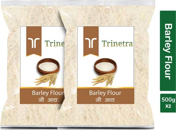 Trinetra Best Quality Jau Atta (Barley Flour)-500gm (Pack Of 2)