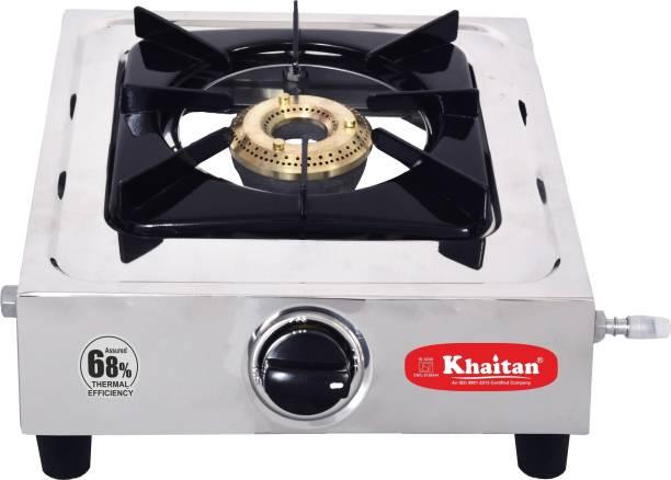 Khaitan Single Burner Classic Stainless Steel Manual Gas Stove