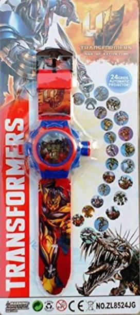 Trade Globe Transformer Projector Watch with 24 Images for Kids