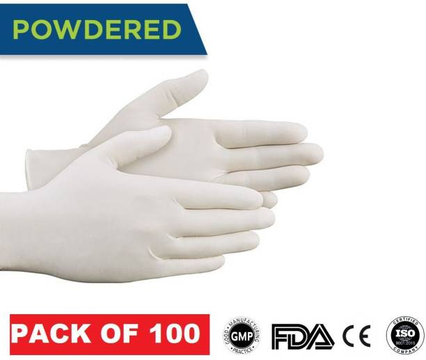DM SPECIALLY FOR SPECIALIST - Premium Quality Latex Hand Gloves for Hospital, Clinic, Sanitary & Kitchen ISO 9001:2015 Certified Latex Examination Gloves