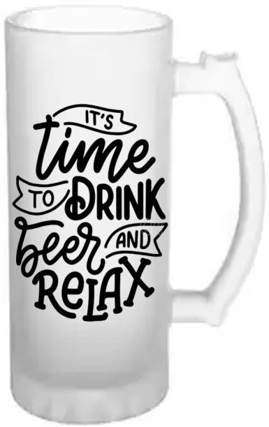 LEDZZ Time to drink Beer Frost Glass Glass Beer Mug