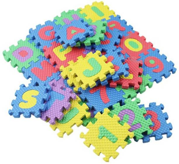 FRAONY Puzzle Mat for Kids, Interlocking Learning Alphabet ABCD and Number 123 Mat for Kids A to Z and 0 to 9