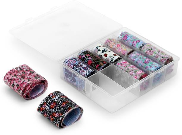 she cosmetics 10pcs 1 Box Nail Foil Transfer sticker mixed Designer Nail Art Beautiful Transfer Foil for Nail Art