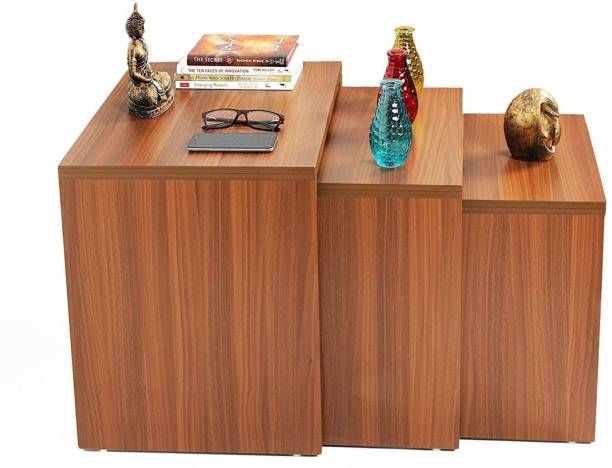 Hout Town Engineered Wood Nesting Table/Table Set (Set of 3) (Walnut) Engineered Wood Nesting Table