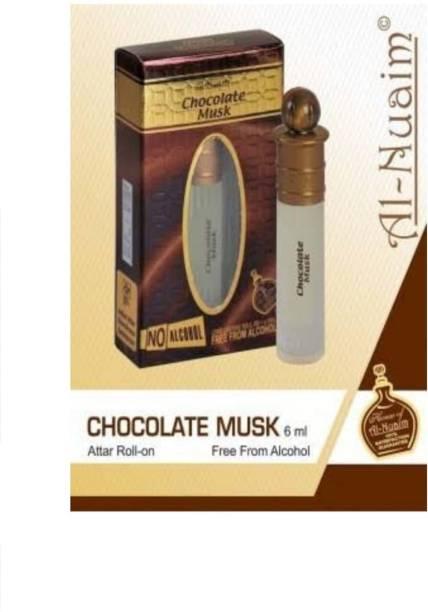 al-nuaim Chocolate Musk Perfume for Men & Women,6ML Floral Attar