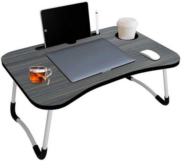 Mahadev Enterprise PORTABLE WOOD LAPTOP TABLE(BLACK) Wood Portable Laptop Table