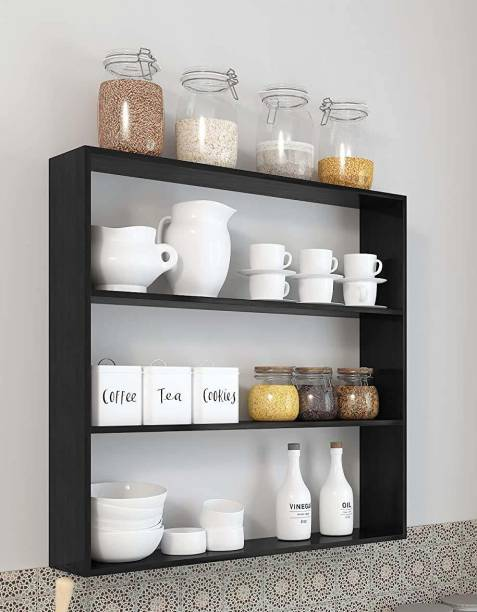 Xtenshion Crafts Wooden Wall Mounted Racks, Organizer, Shelf for Kitchen Storage Boxes Wooden Wall Shelf