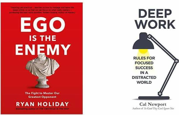 Ego Is The Enemy + Deep Work: Rules For Focused Success In A Distracted World (Set Of 2 Books)