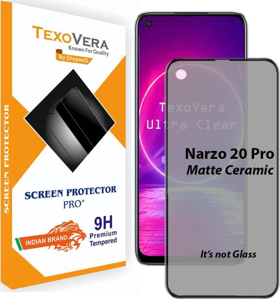 TexoVera Edge To Edge Tempered Glass for Realme Narzo 20 Pro, Realme 6, Realme 7, Realme 7i, Realme C17, oneplus 8T, Oneplus 9, Oppo A52, Oppo A72, Oppo A92, Oppo A32, Oppo A33, Oppo A73 matte Finish