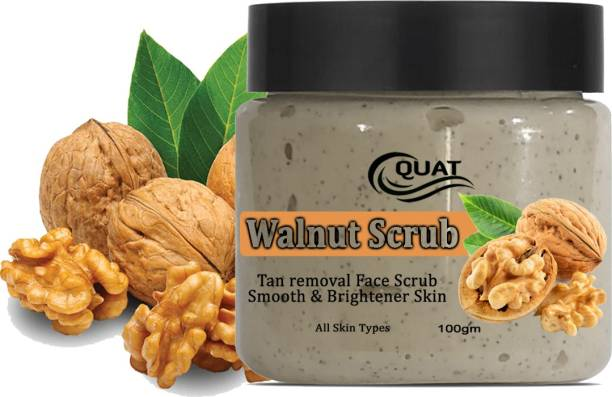 QUAT Walnut Natural Tan Removal Scrub For Smooth And Brightener Skin  Scrub