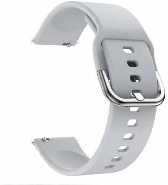 valente Soft Silicone 20mm Metal Buckle Smart Watch Strap