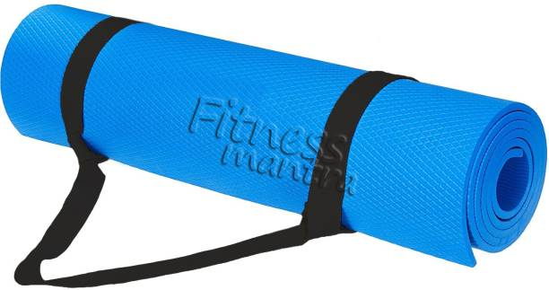 Fitness Mantra Texture Design , Anti-skid Yoga Mat Blue 6 mm Yoga Mat
