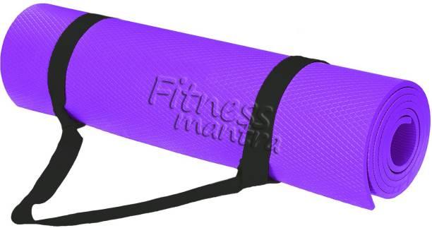 Fitness Mantra Texture Design , Anti-skid Yoga Mat Purple 6 mm Yoga Mat