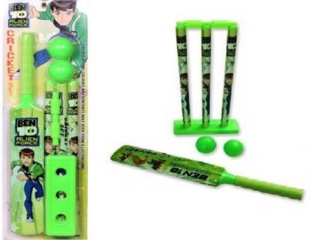 2Fonz Super power hero cartoon print Kids Cricket Set Ball, Bat & Stumps for Kids Sport Play Set Cricket Kit Cricket Kit