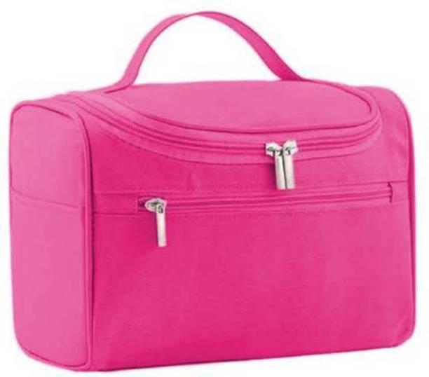 ESSPY Pink Multifunctional Hanging Travel Toiletry Bag Organizer & Bathroom Storage Travel Toiletry Kit (Pink) Multifunctional Hanging Travel Toiletry Bag Organizer & Bathroom Storage Travel Toiletry Kit (Pink) Vanity Box